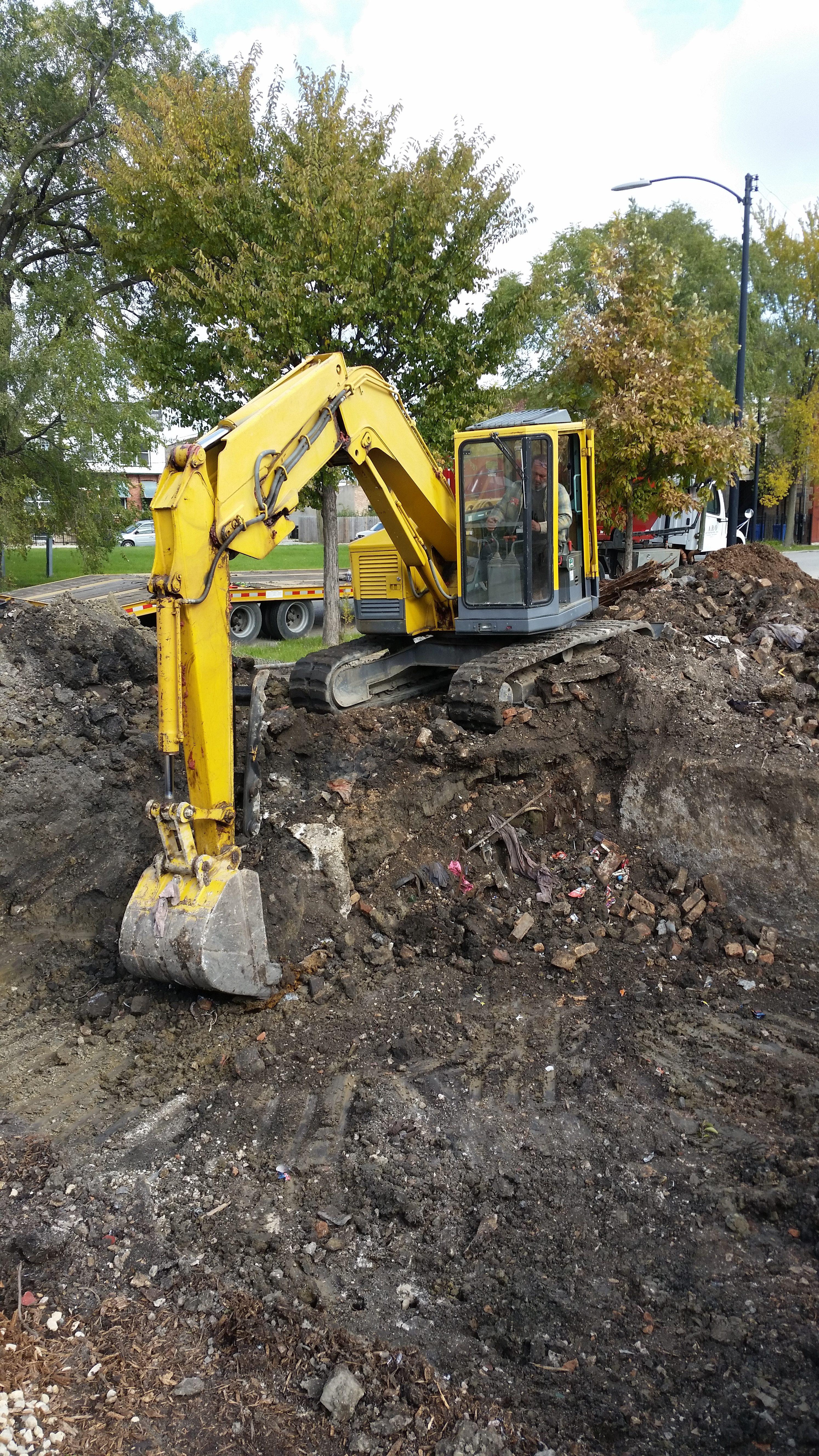 excavation continues